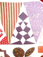 Tonights Dear Jane Triangle quilting
