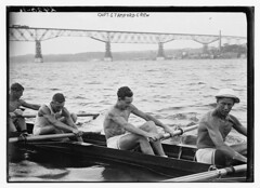 [Stanford University crew rowing on Hudson Riv...