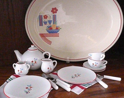 Platter and Tea Set