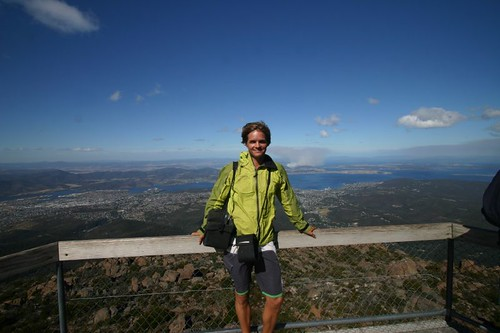 Mt. Wellington (1270 m.a.s) and a fantastic view over Hobart...