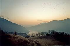 Room to Play (la.triano) Tags: sunset mountains switzerland lomo agra lugano distant