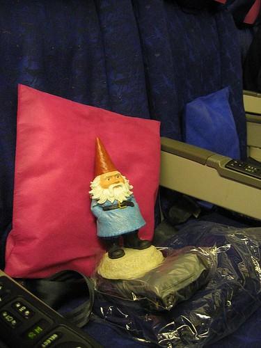 British Airways Flight - Travelocity Gnome