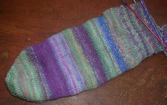 purple and green sock 1