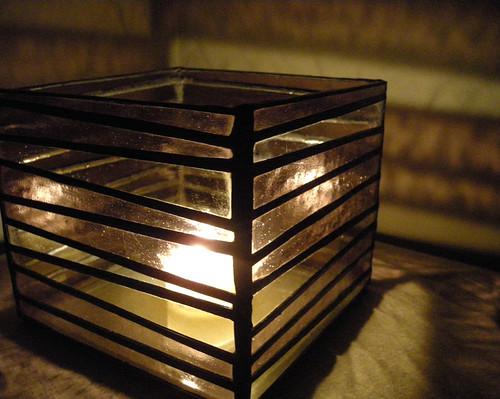 Brazan Design Striped Stained Glass Box