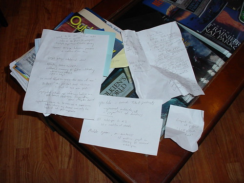 It all comes down to this: Scratched notes that must be digitized