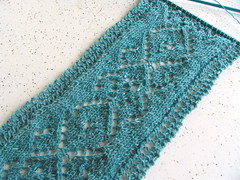 In progress: Melusine scarf