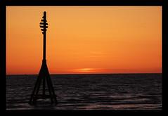 Burbo Bank 3 (Fanatical Apathist) Tags: sunset beach silhouette liverpool coast sand nikon crosby merseyside sefton rivermersey crosbybeach d40 nikond40 burbobank