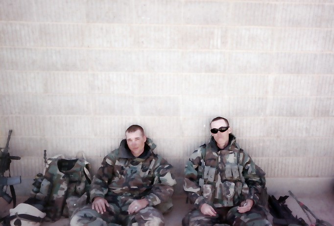 With SGT Brian Colby in Najaf, Iraq - March 2003