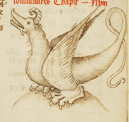 The Hague  KB  128 C 4 fol. 94v- Dragon