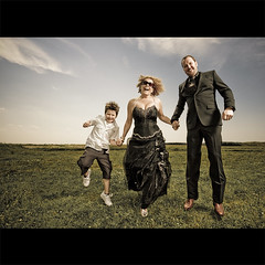 Skip, Audrey and Ray (lowonlands) Tags: wedding portrait jump unreal ringflash profoto elinchrom coolestphotographers