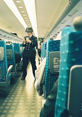 (bobby stokes) Tags: film japan train tickets japanese natura 1600 fujifilm analogue  shinkansen conductor fujicolor ticketsplease natura1600 fujinatura1600 fujifilmnatura1600 fujicolornatura1600