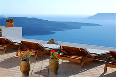 Relaxing in Santorini