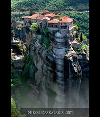 "METEORA.........JAMES BOND MOVIE:""For your eyes only"" (Daskalakis Nikos) Tags: travel hellas greece dslr dri hdr meteora sigma1020mm kalambaka  canon450d   nikosdaskalakis  daskalakisnikos 3expaeb"