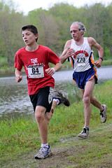 age is right on youth's heels (Ben Kimball) Tags: race running crosscountry runners xc 5k shakervillage grappone5k