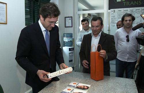 Pedro Passos Coelho visita Empresa de de Granitos de Vila Pouca de Aguiar