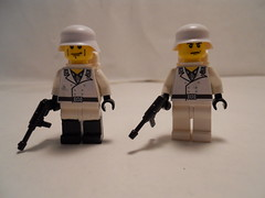 German Soldiers (Winter) (THEBrickTrooper) Tags: lego ww2 ba minifigs decals brickarms