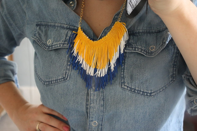 DIY Chevron Fringe Necklace