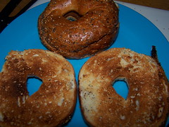 Toasted Onion Everything Bagel 100_0855.JPG (smith_cl9) Tags: street food june breakfast bacon spring brothers signature einstein egg saturday diner sandwich costco bagel brunch onion everything kirkland bros fuel toasted poached 2011