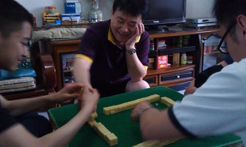 开始娱乐活动,麻将。 by Yeqin_Su