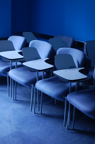 blue school chair education waiting loneliness chairs classroom desk empty blues class wait lonely teaching teach desks emptyclassroom