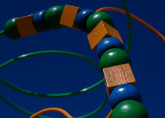 167/365 - pattern (auntneecey) Tags: blue orange green catchycolors toy beads colorful 365project