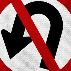 u - t u r n e d (@jessewright) Tags: road street sign drive traffic arrow uturn reflector jessewright