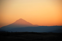 Sunset Silhouette of Mt. Hood (Gigapic) Tags: sunset usa oregon landscape landscapes mt unitedstates mthood hood interestingness443 aplusphoto infinestyle superhearts photofaceoffwinner photofaceoffplatinum pfogold pfoplatinum herowinner ultraherowinner