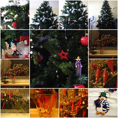 Christmas mosaic - christmas tree 2005 and advent calendar 2006 (zopeuse) Tags: christmas tree advent calendar mosaic 2006 ornament flickrtoy adventcalendar snowwhite