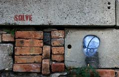 Solve (pantagrapher) Tags: street chicago art gbrearview rip bricks metra ravenswood solve chicagoist