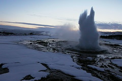 Geyser taking off