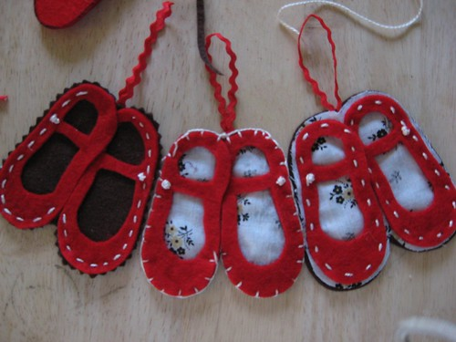 Red Shoe Christmas ornaments