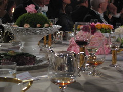 Nobel banquet table