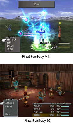 Final Fantasy VIII and IX Screenshots