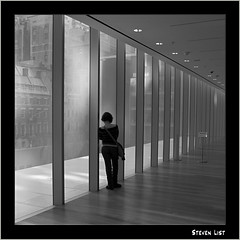 Contemplation 1 B&W (Teikan-Do) Tags: nyc newyorkcity bw woman newyork window topf25 monochrome silhouette skyline museum skyscraper gray moma 100v10f thinking fv10 sincity contemplation 500x500 35faves blackwhitephotos 1mill artlibre platinumphoto artlegacy bwartaward platinumsuperstar awardflickrbest 100commentgroup