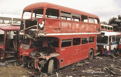803DYE, dies (Lady Wulfrun) Tags: london abandoned transport july vehicle routemaster 1994 scrap 27th breaking barnsley spares donor clydeside rm1830 830dye