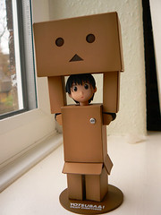 danboard1 (squink!) Tags: cute monster japan japanese cardboard kawaii boxes kaiyodo yotsuba squink robit revoltech danboard enokitomohide