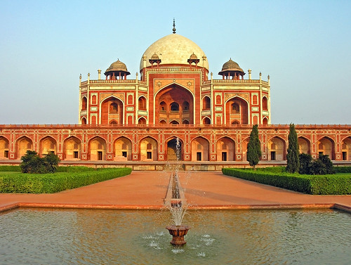 フリー写真素材, 建築・建造物, 廟・墓地, フマーユーン廟, インド, 世界遺産,