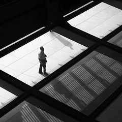 One in a million (Heaven`s Gate (John)) Tags: bw white man black art silhouette person hongkong one blackwhite top20bw alone creative dramatic architect normanfoster imagination hq hsbc oneinamillion johndalkin heavensgatejohn