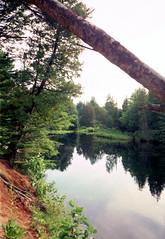 River @ Trailer (sr667) Tags: ontario canada river dorset muskoka