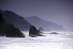 Hug Point, Oregon Coast, USA (jogorman) Tags: ocean trees winter sea usa west beach water silhouette oregon portland coast surf waves pacific wave spray brine foam cannonbeach hugpoint explored jamesogorman alemdagqualityonlyclub
