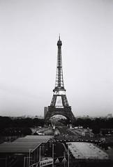 7 Paris (12) Eiffel (pjink11) Tags: blackandwhite paris blakandwhite europe eiffeltower 1998