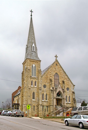 Saint Rose of Lima Roman Catholic Church, in De Soto, Missouri, USA - exterior