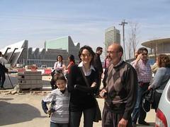 Alex, Arantxa y Emilio en la expo