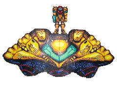 Samus Aran has Landed Bead Sprites (Doctor Octoroc) Tags: ship videogames metroid samus samusaran hamabeads perlerbeads supermetroid beadsprite doctoroctoroc