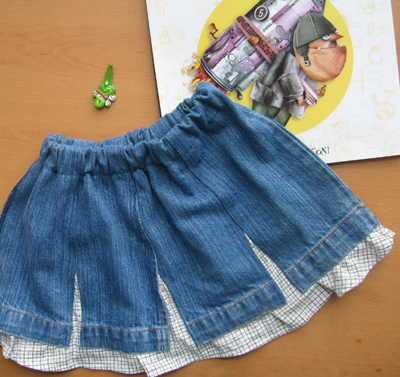 Reconned denim skirt for Lara