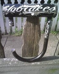 Motherfuckers! (twotoneatl) Tags: broken georgia saw break state cut lock u ulock gsu dremel sawed twotone666 exnobrakesatl