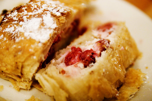 cherry and cheese studel innards