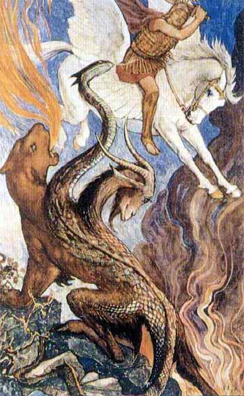 Chimera, Bellerophon, Pegasus