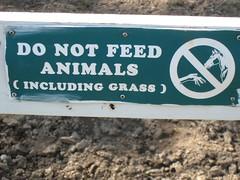 Kelsey Creek Farm Warning Sign