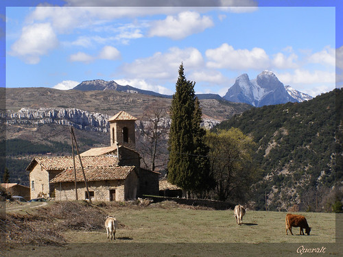 The church of Santa Coloma de Queralt, from a local postcard